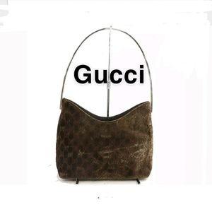 💯 Gucci Corduroy handbag Authentic.